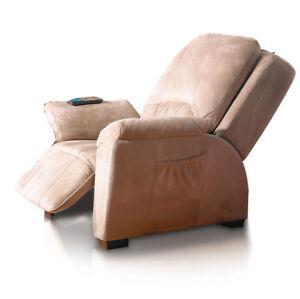 Massagesessel-Rom-beige-Fernsehsessel-Relaxsessel-Lagerraeumungsverkauf
