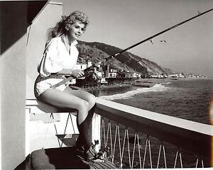 Donna-Douglas-Leggy-Fishing-8x10-photo-S6707