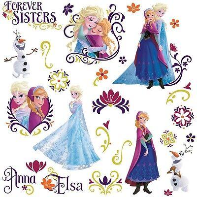 Disney FROZEN SPRING 27 Wall Decals Princess Room Decor Stickers Olaf Elsa Anna