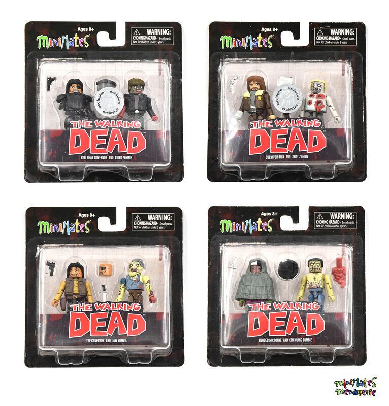 Walking Dead Minimates TRU Toys R Us Wave 4 Complete Set