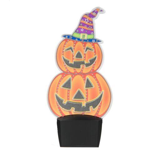 Halloween Pumpkin Flashing LED Jack-O-Lantern Night Light