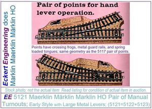 EE-5121-EXC-Maerklin-Marklin-Marklin-HO-Pair-of-Turnouts-with-OBX-Early-Style