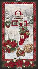 "Timeless Treasures Fabric CHRISTMAS MORNING, 23.5"" Panels"