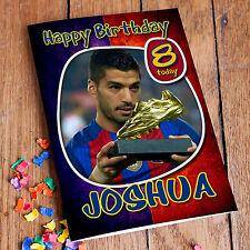 FC BARCELONA SUAREZ  Personalised Birthday Card! FREE Shipping! PREMIUM quality!
