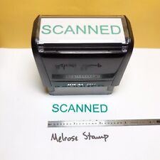 New Listingscanned Rubber Stamp Green Ink Self Inking Ideal 4913