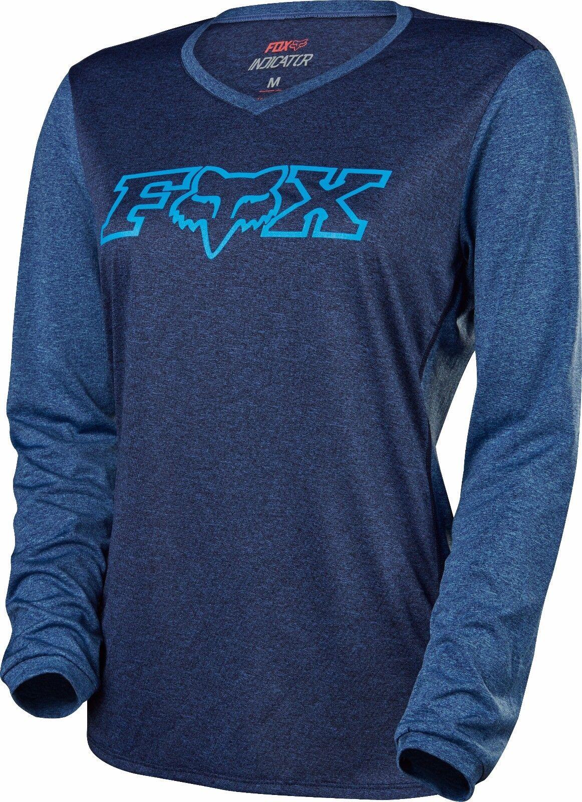 Fox Racing Womens Indicator Long  Sleeve L S Jersey Heather Navy  hot sale online