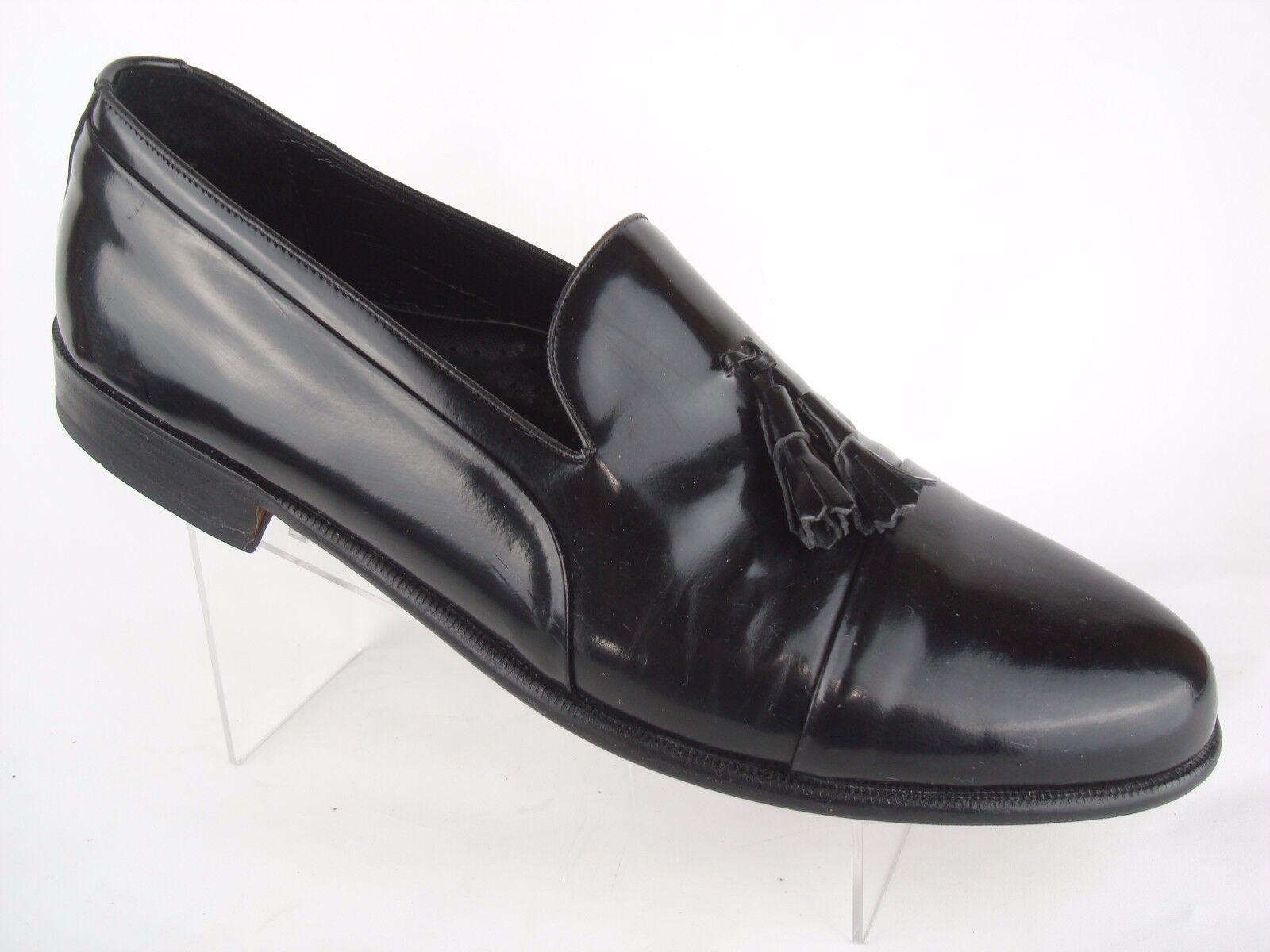 Florsheim Black Patent Leather Cap Toe Tassel Loafers Mens Shoes Sz 11.5 D Spain