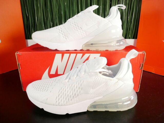 RARE Nike Air Max 270 Triple White Mens Running Shoes AH8050-101 Size 9.5