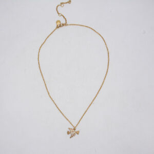 J-CREW-VINTAGE-GOLD-PLATED-CUTE-BIRD-PIGEON-PENDANT-NECKLACE-CHAIN-FOR-WOMEN