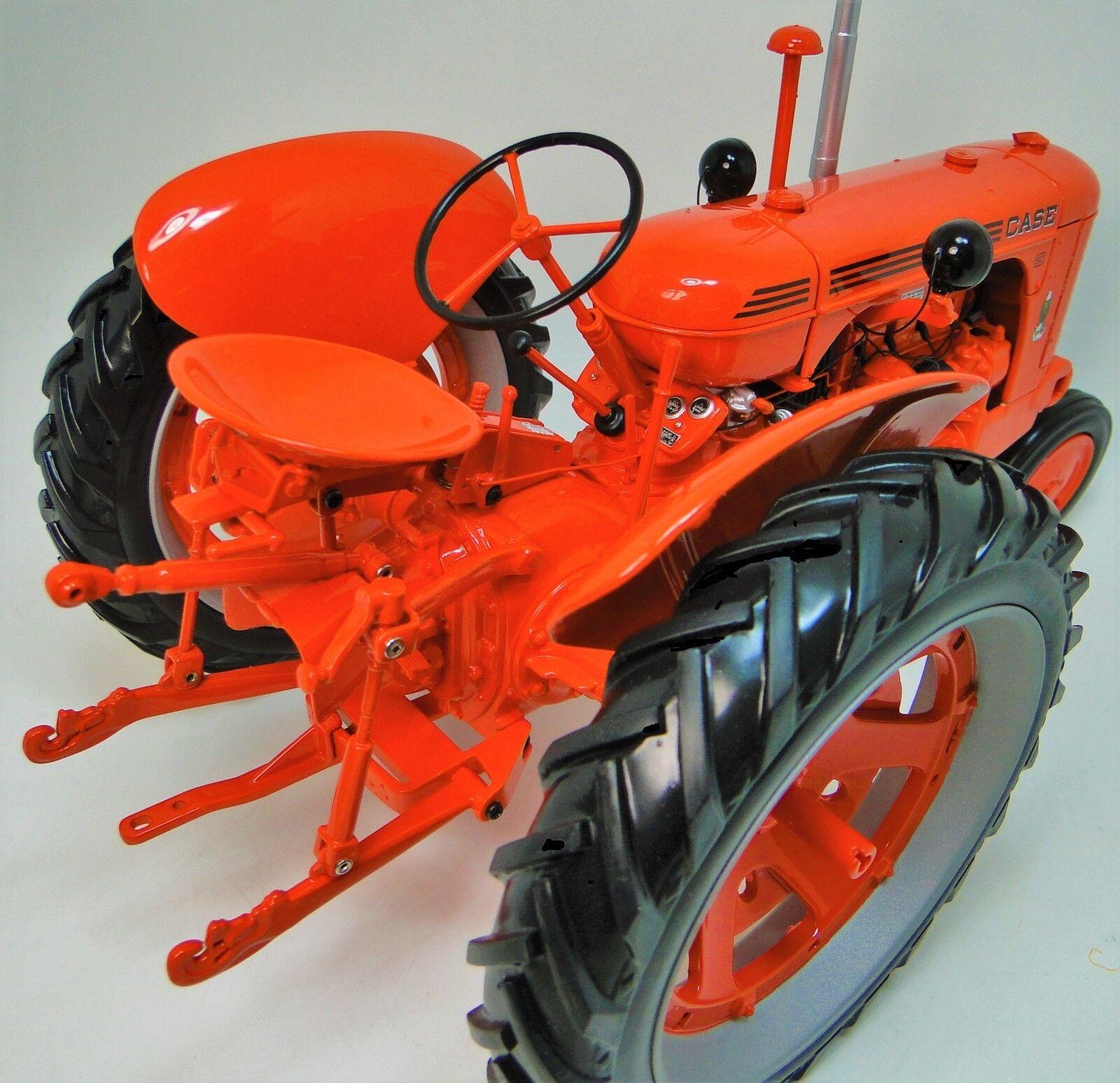 Caso Tractor de Granja 1s 1940s maquinaria Vintage 1 12 Diecast Modelo Sc