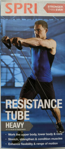 SPRI Resistance Tube Heavy Home Exercise Workout Bands Up to 50 lbs New