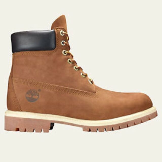 Timberland Men's Boot 6 Inch Premium Waterproof Leather 72066 Rust Nubuck 11