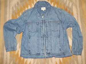 how to orders for whole family newest style Details about Cabelas ~ Women's L ~ Blue ~ Soft Denim ~ Zippered Front Jean  Jacket