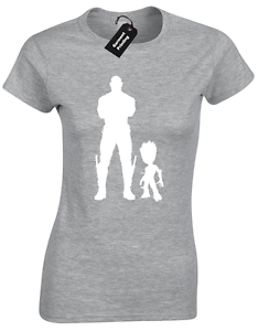 GUARDIANS DRAX GROOT LADIES T SHIRT MARVEL ROCKET INFINITY NOVA CORP BABY WARS