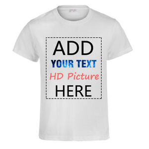 Custom-Personalized-Cotton-Tops-T-shirt-Your-Own-Design-Text-Picture-Printed-Tee