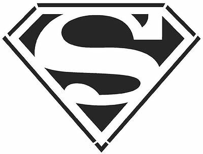 Superman Stencil 190 micron Mylar