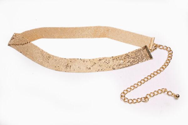 100% De Calidad Impresionante Señoras Oro Brillante Fiesta Suave Cinturón De Cadera W Chain & Langosta Broche (s547)-ver EscalofríOs Y Dolores