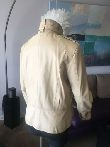 pelle Giacca Marc New Light Andrew Beige in Sz L York moto autentica AqHBnpRqg
