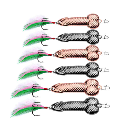 1Pcs Fishing Lures Tackle Hook Dick Spinner Spoon Pike Wobble Tackle Hook New