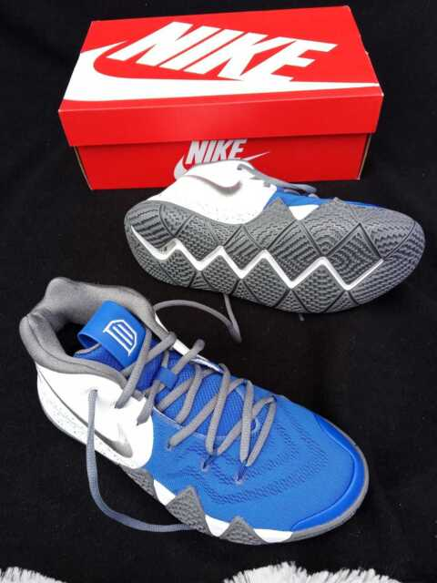 3c818ccc3a3a 7.5 MEN S NIKE KYRIE IRVING ID BASQUETBALL SHOES AR3867-994 BLUE WHITE  SNEAKERS