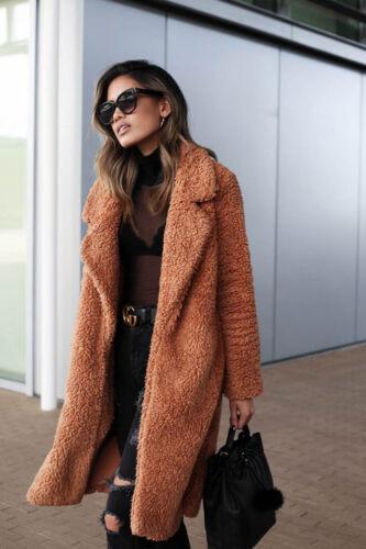 Coat Size Fluffy Fleece Womens Jumper Fur Winter Plus Teddy Bear Giacche Outwear qA8xwfTd