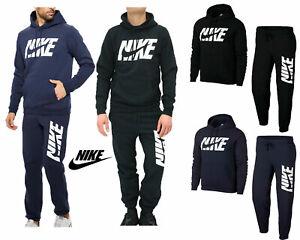 Nike-Mens-Full-Tracksuit-Air-NSW-Fleece-Hooded-Jogging-Bottms-Joggers-S-M-L-XL