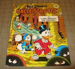 Walt-Disney-039-s-UNCLE-SCROOGE-6-1988-VG-Cond-Comic-Land-Beneath-The-Ground