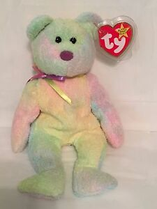 c4fc1f140b5 TY Beanie Baby - GROOVY the Pastel Bear - Pristine with Mint Tags ...