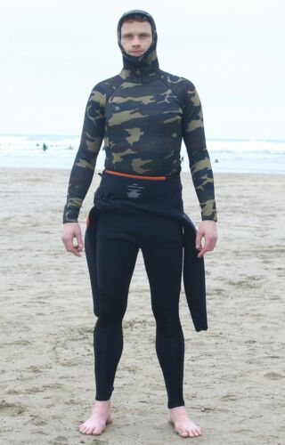 2mm Neo Camo thermal hooded rash vest ALL SIZES AVAIL For all watersports