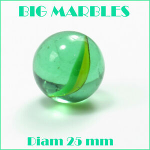 Jumbo-Green-with-swirls-Glass-Color-BIG-Marbles-Assorted-Qty-1-2-3-4-5