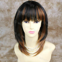 Wiwigs Short Face Framed Layered Red & Black Mix Skin Top Ladies Wig