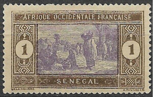 1914. Senegal. Mercado