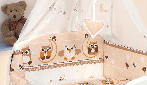8 Pc Niña Rosa Con Dibujo De Búho Nurser Cuna-Cama Cuna Set bumper+covers+duvet+more
