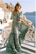 NWT Spell and the Gypsy Collective Designs XS Kombi Button Down Maxi Skirt  Sage
