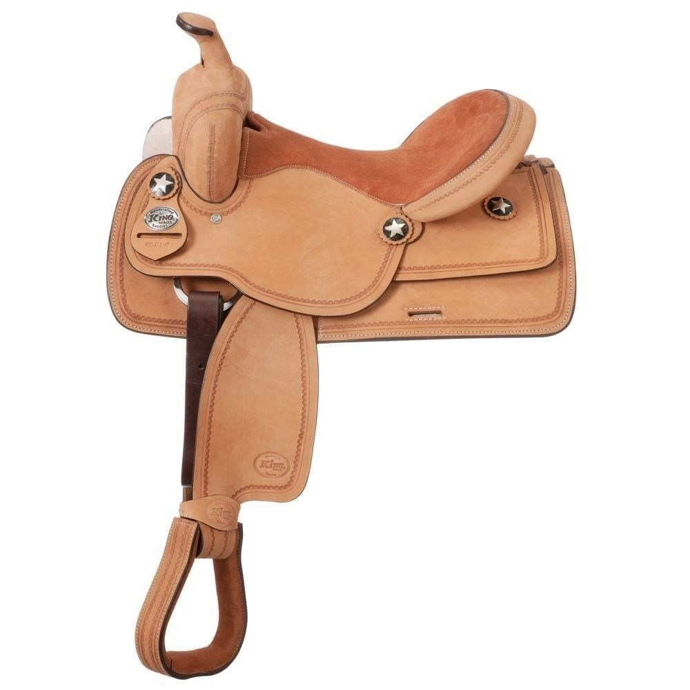 Tough-1 King Series Bobcat Youth Competition Saddle 14  Light Oil