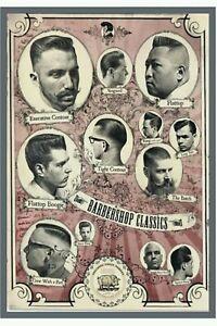 TARGA-VINTAGE-034-1960-HAIR-CUTS-BARBER-SHOP-034-Pubblicita-ADVERTISING-POSTER-PLATE