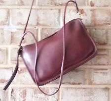 COACH Vtg NYC Burgundy Leather OXBLOOD Basic Bag 9455 Glued Regis EUC RODARTE