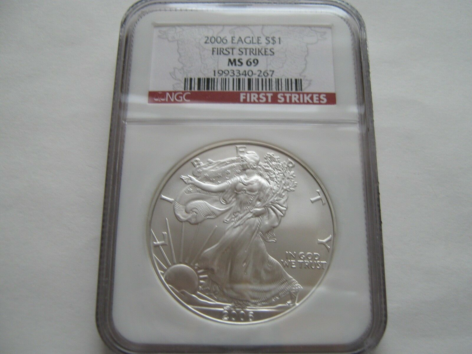 2006 , Silver Eagles , NGC , MS 69 , First Strikes , Lo