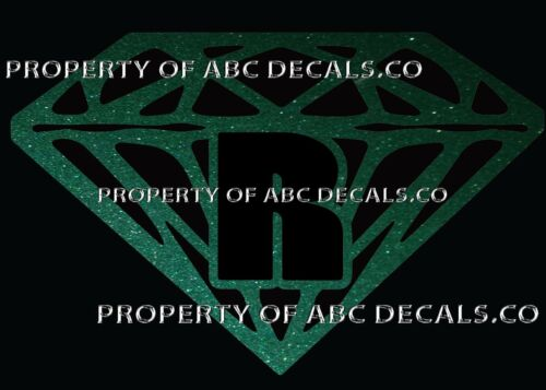 VRS Diamond CUSTOM INITIAL R DIAMANTE JEWEL STONE Metal CAR Decal Wall Sticker