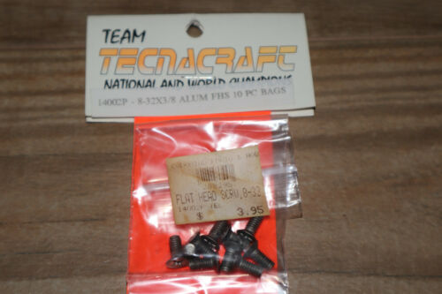 Tecnacraft  8-32x3//8 Phillips Head Aluminum Screws for RC10 NOS 10pc Yokomo