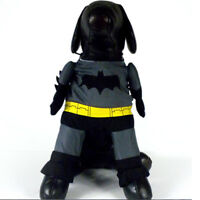 Batman Dog Fancy Dress Clothes For Pets Cat Costume Outfit Shawl **