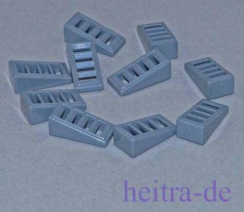 10 x Dachstein cannelures gris foncé 18 degrés 2x1x2//3//61409 article neuf LEGO