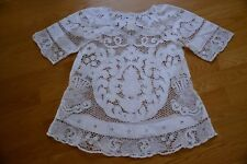 Lim'S Gorgeous Venetian Lace And Hand Embroidery Dress White M