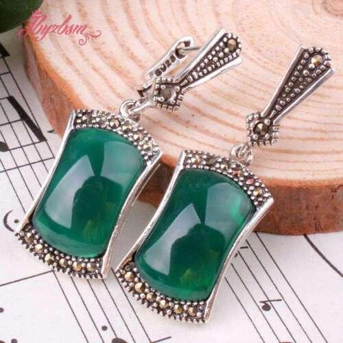 8x15mm Rectangle Cristal Perle Marcassite Tibetan Silver Dangle Stud Boucle d/'oreille 1 Paire