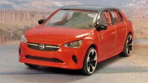 2019 OPEL CORSA 1:55 Orange Majorette//Opel  MIP Passenger Diecast Car