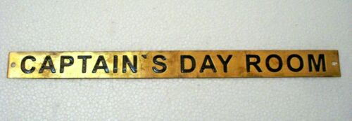 Boat//Nautical CAPTAIN'S DAY ROOM – Marine BRASS Door Sign 31 12 x 1 Inches