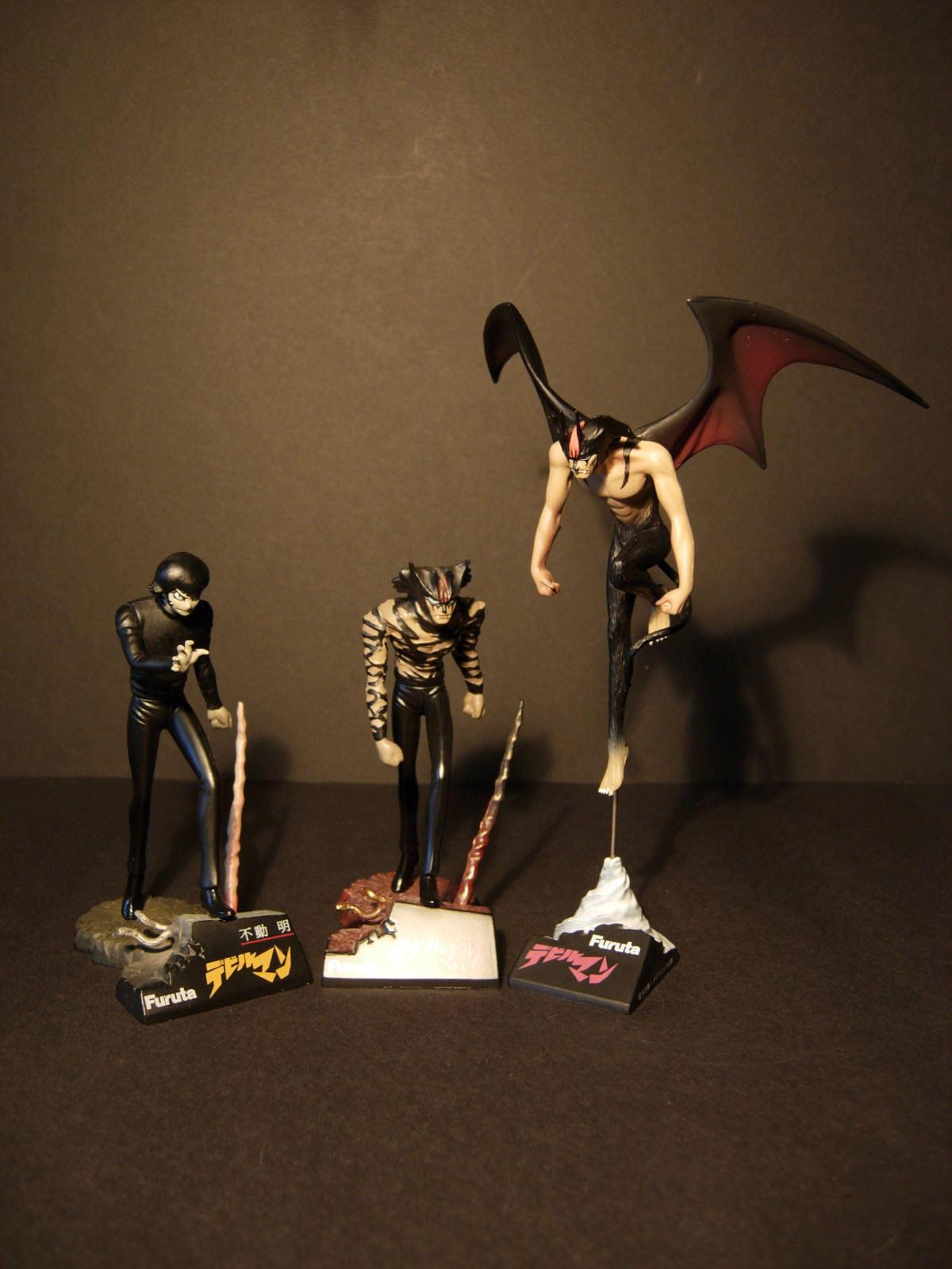 DEVILMAN GASHAPON - GO NAGAI - FURUTA Set of 3 - Devilman transformation