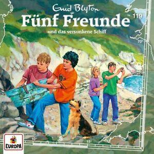 CD-FUNF-FREUNDE-HORSPIEL-CD-119-UND-DAS-VERSUNKENE-SCHIFF-NEU-OVP