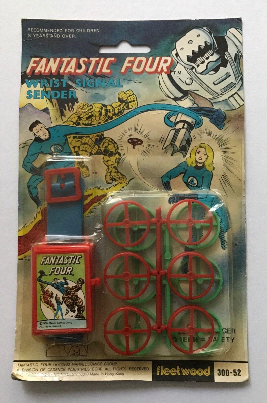 Vintage 1980 FLEETWOOD Fantastic Four Wrist Signal Sender MOC  Rare