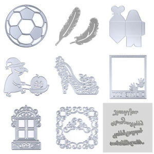 Football Cutting Dies Stencil Scrapbooking Album Paper Card Embossing Craft DIY